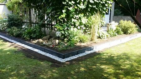 Garten Landschaftsbau Beeteinfassung Ferch