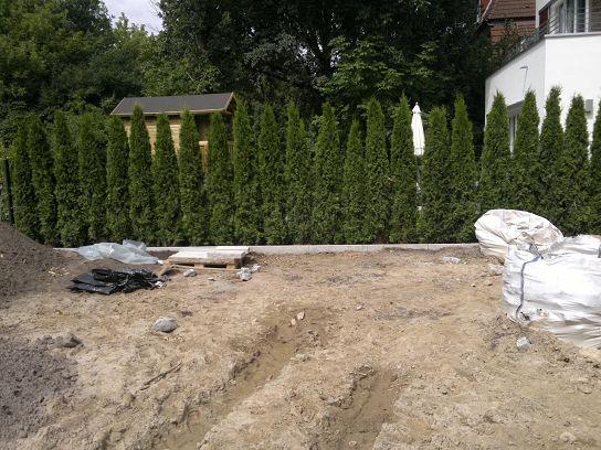 Garten Landschaftsbau Hecke pflanzen