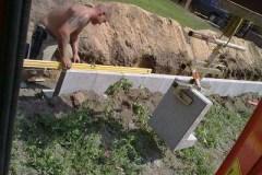 Mauern Palisaden Boeschungssicherung Boeschungsstuetzen stellen
