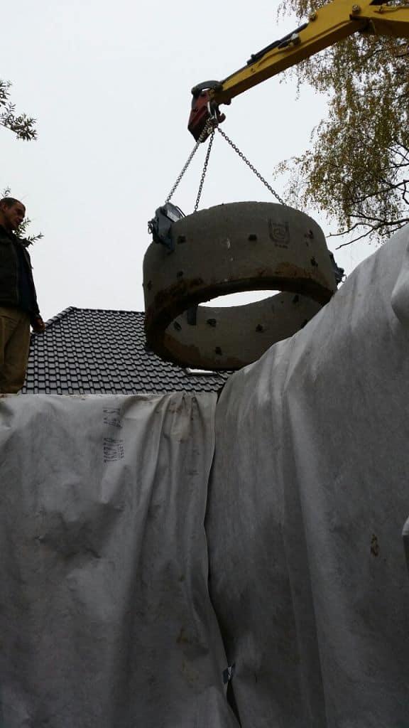 Michendorf Regenwassersickerschacht einbauen