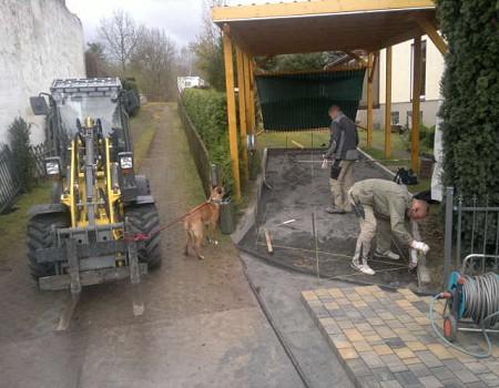 Pflasterarbeiten Betonstein Hof pflastern Werder Havel