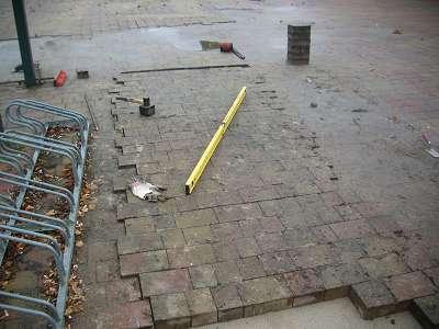 Pflasterarbeiten Betonstein Pflaster Begradigung
