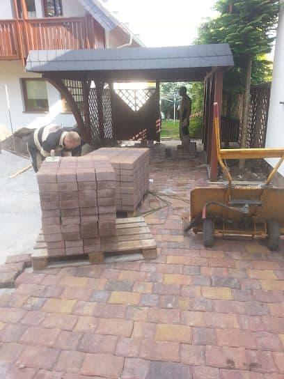Pflasterarbeiten Betonstein Stellplatz Einfahrt in Geltow