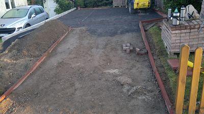 Pflasterarbeiten Betonstein Zufahrt herstellen