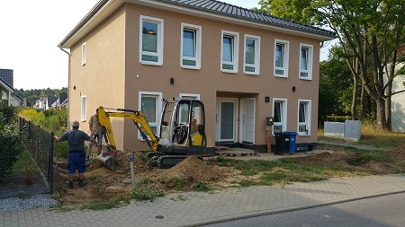 Pflasterarbeiten Naturstein Basaltplatten Stahnsdorf