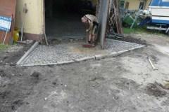 Pflasterarbeiten Naturstein Einfahrt aus Kleinsteinpflaster