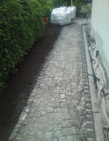 Pflasterarbeiten Naturstein Granit Pflastersteine verlegen