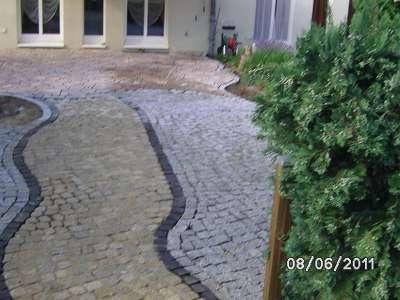 Pflasterarbeiten Naturstein Hof pflastern