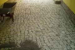 Pflasterarbeiten Naturstein Stellplatz pflastern
