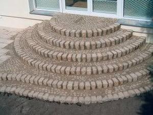 Pflasterarbeiten Naturstein Treppe pflastern
