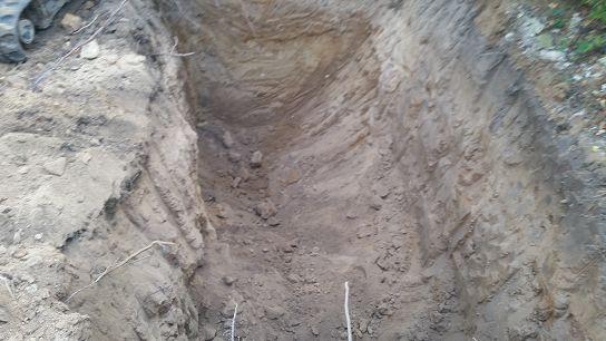 Regenwasser Versickerung 2x Sickerschacht einbauen