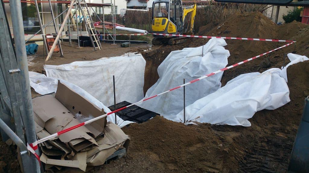 Regenwasserrigole in Berlin Mahlow Lichterfelde einbauen