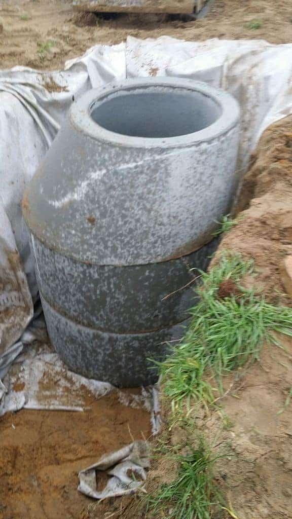 Regenwasserschacht in Stanhsdorf bei Teltow einbauen