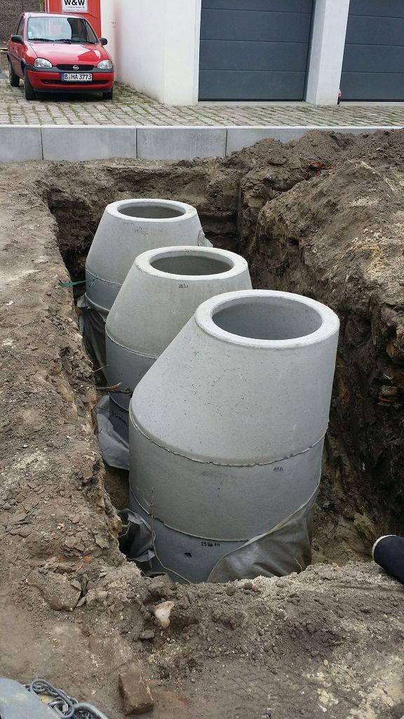 Teltow Regenwassersickerschacht einbauen