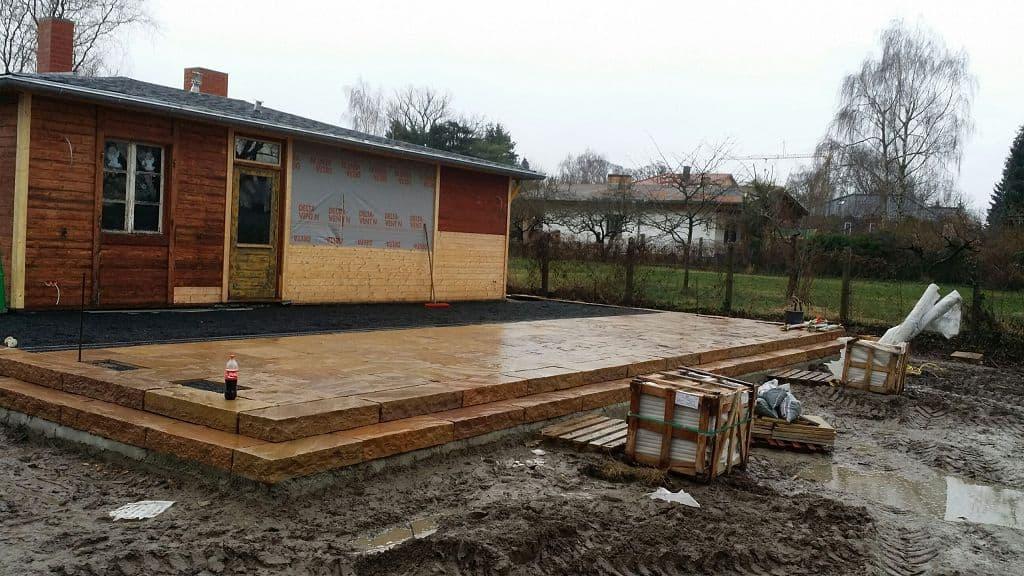Terrasse aus Naturstein bauen Werder Havel Terrassenbau