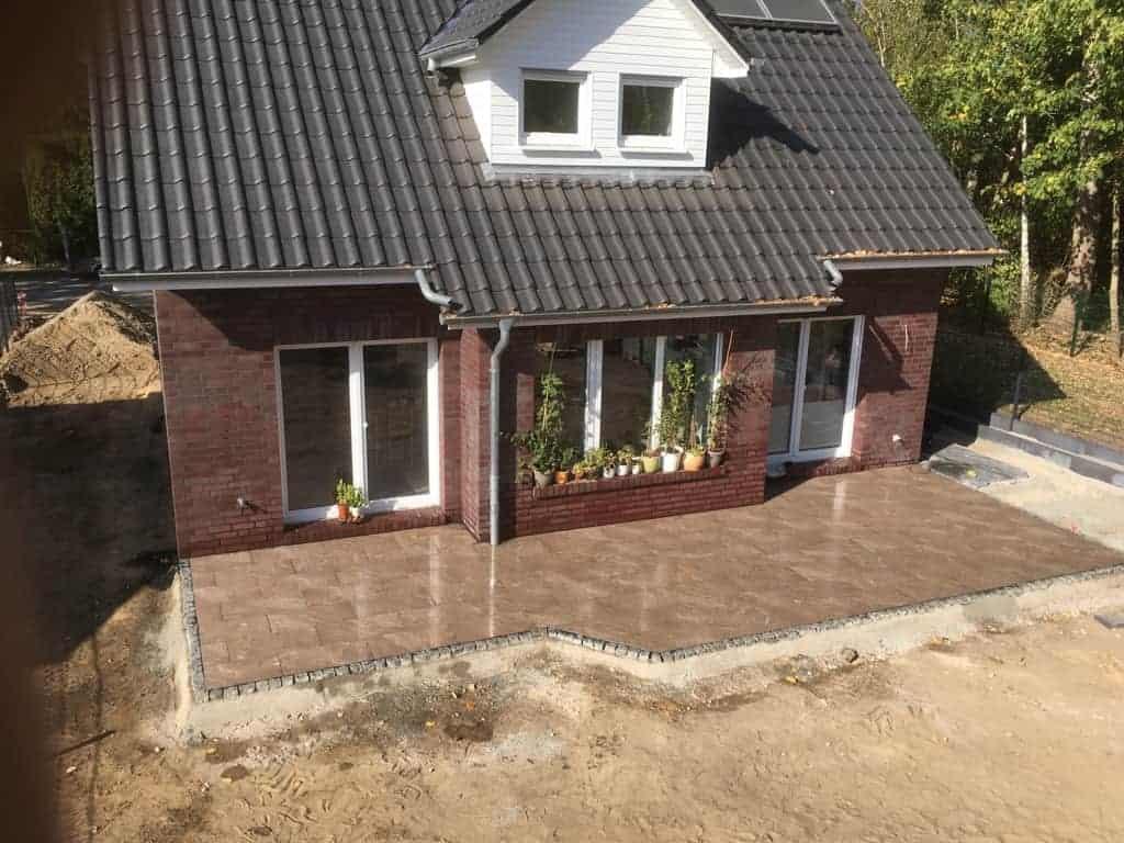 Terrassenbau Teltow Seehof Terrasse aus Keramik