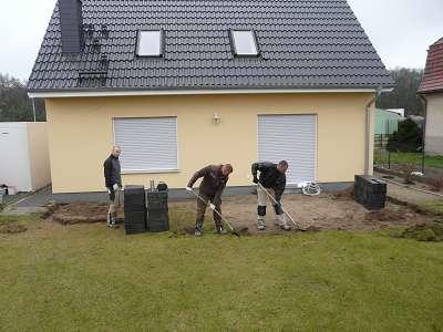 Beim Bau einer Terrassen in Michendorf