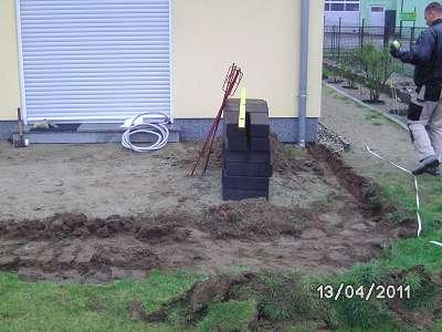 Beim Terrassenbau Michendorf