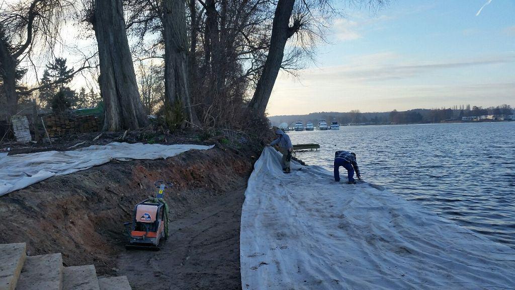 Uferbefestigung Werder Havel Strand bauen
