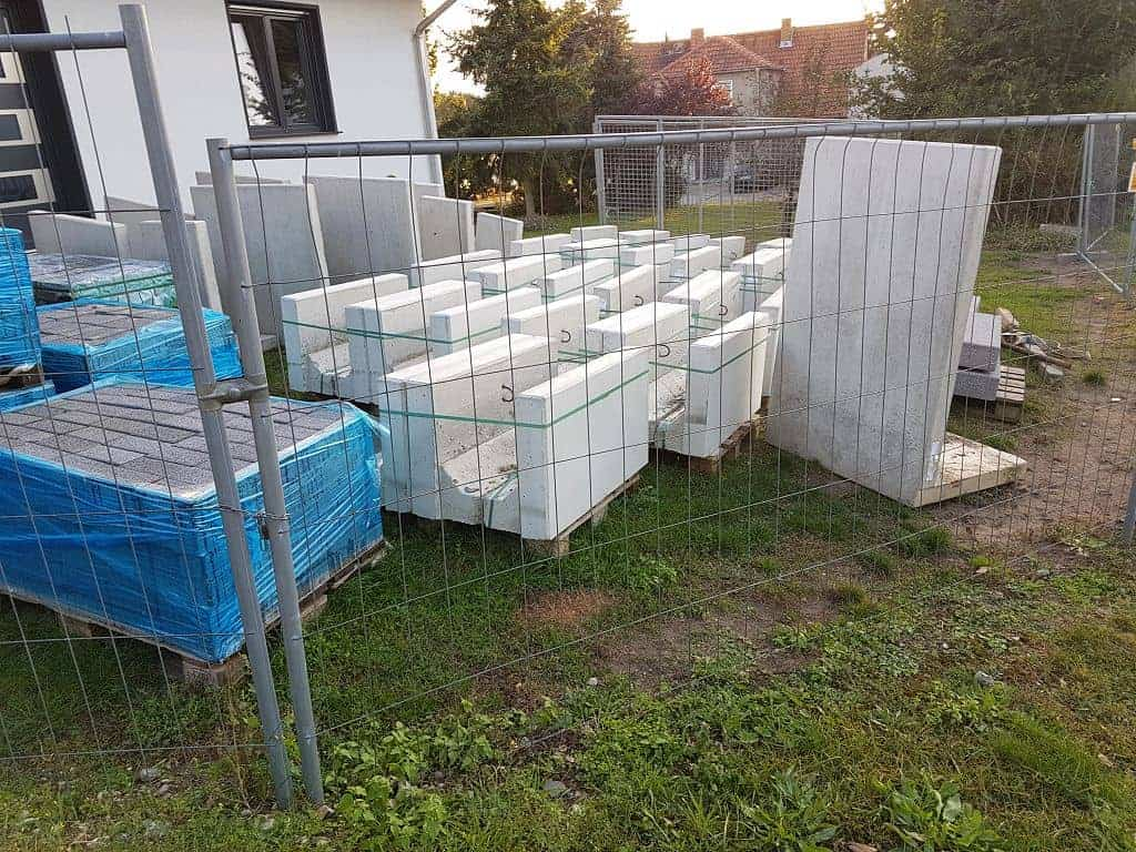 Winkelstützen setzen L-Steine setzen Werder Havel