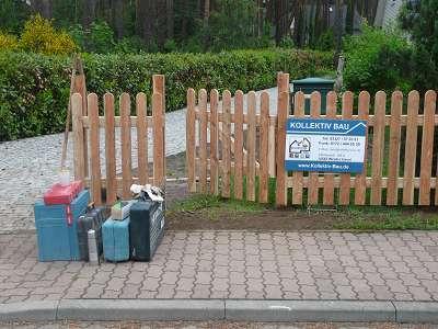 Zaunbau Holzzaun aufstellen