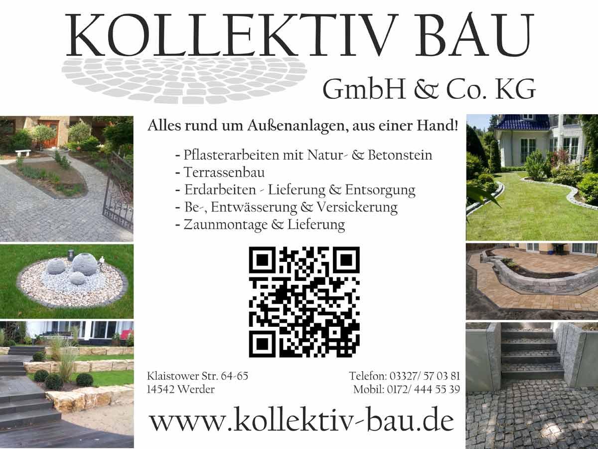 Kollektiv Bau Flyer - Ihre Garten Landschaftsbau Firma aus Werder an der Havel
