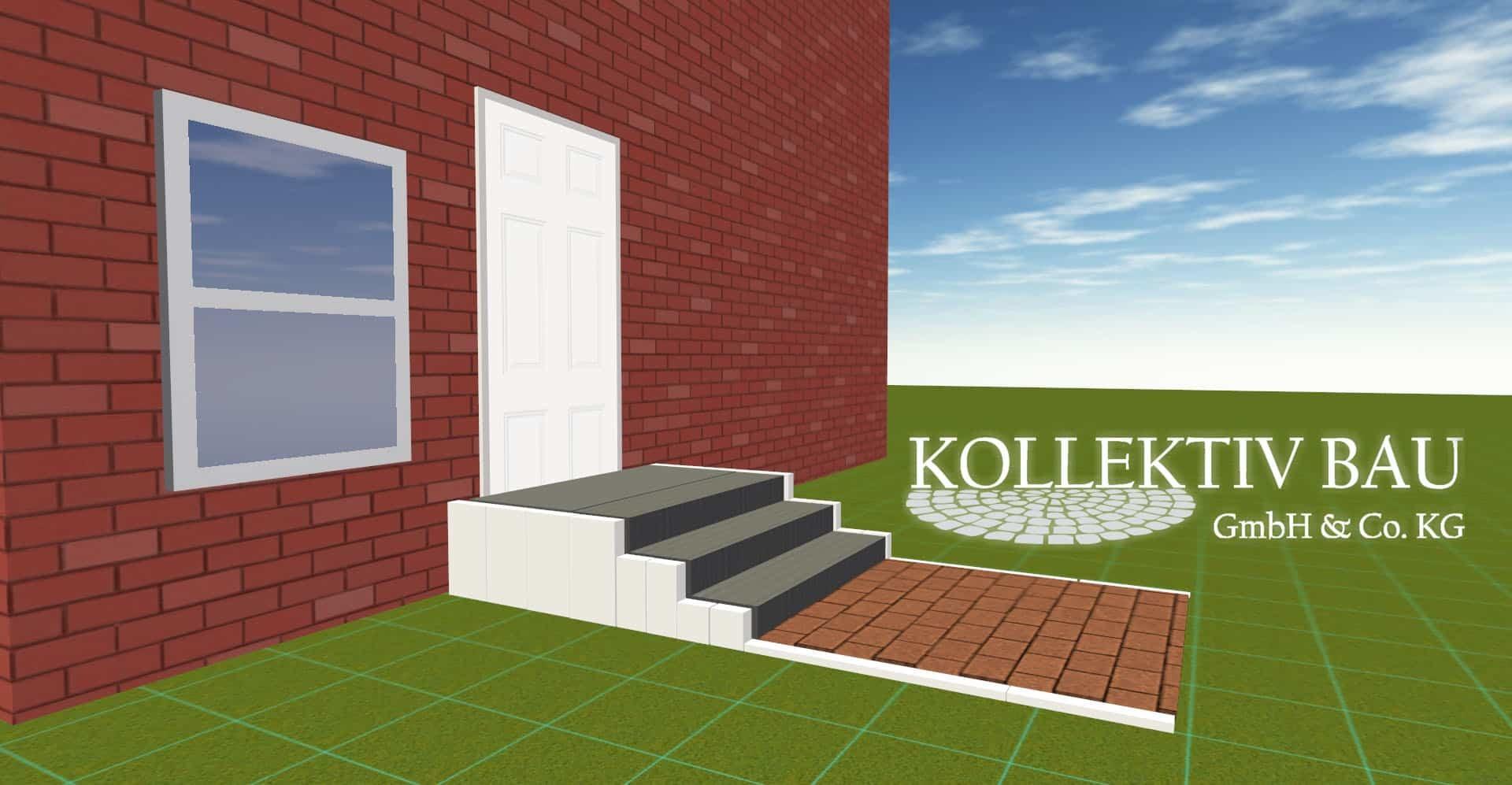 Planentwurf einer Treppe in 3D