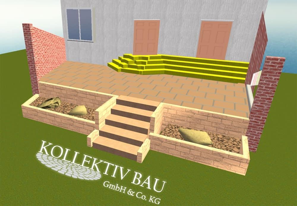 Terrassenbauplanung in 3D